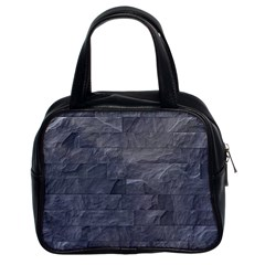 Excellent Seamless Slate Stone Floor Texture Classic Handbags (2 Sides)