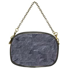 Excellent Seamless Slate Stone Floor Texture Chain Purses (two Sides)