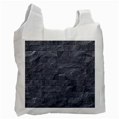 Excellent Seamless Slate Stone Floor Texture Recycle Bag (Two Side)