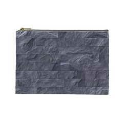 Excellent Seamless Slate Stone Floor Texture Cosmetic Bag (large)
