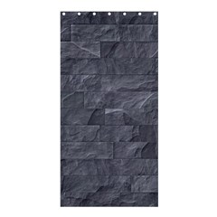 Excellent Seamless Slate Stone Floor Texture Shower Curtain 36  x 72  (Stall)