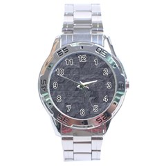 Excellent Seamless Slate Stone Floor Texture Stainless Steel Analogue Watch