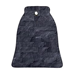 Excellent Seamless Slate Stone Floor Texture Bell Ornament (two Sides)