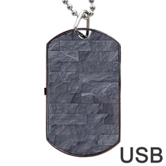 Excellent Seamless Slate Stone Floor Texture Dog Tag Usb Flash (one Side)