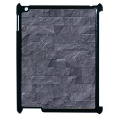 Excellent Seamless Slate Stone Floor Texture Apple Ipad 2 Case (black)