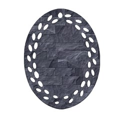 Excellent Seamless Slate Stone Floor Texture Oval Filigree Ornament (two Sides)