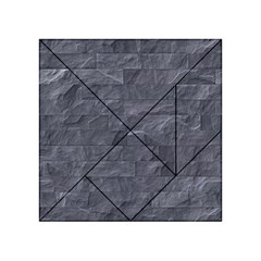 Excellent Seamless Slate Stone Floor Texture Acrylic Tangram Puzzle (4  X 4 )