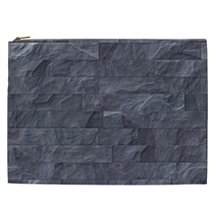 Excellent Seamless Slate Stone Floor Texture Cosmetic Bag (xxl)