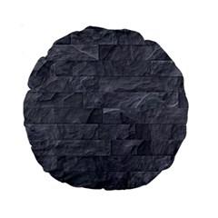 Excellent Seamless Slate Stone Floor Texture Standard 15  Premium Round Cushions