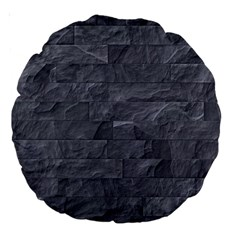 Excellent Seamless Slate Stone Floor Texture Large 18  Premium Round Cushions