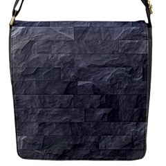 Excellent Seamless Slate Stone Floor Texture Flap Messenger Bag (s)