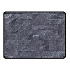 Excellent Seamless Slate Stone Floor Texture Double Sided Fleece Blanket (Small)
