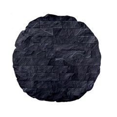 Excellent Seamless Slate Stone Floor Texture Standard 15  Premium Flano Round Cushions