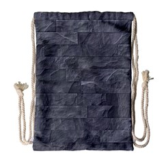 Excellent Seamless Slate Stone Floor Texture Drawstring Bag (Large)