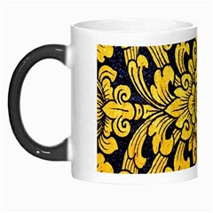 Flower Pattern In Traditional Thai Style Art Painting On Window Of The Temple Morph Mugs