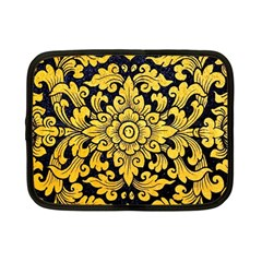 Flower Pattern In Traditional Thai Style Art Painting On Window Of The Temple Netbook Case (Small)