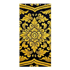 Flower Pattern In Traditional Thai Style Art Painting On Window Of The Temple Shower Curtain 36  x 72  (Stall)