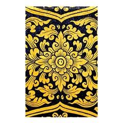 Flower Pattern In Traditional Thai Style Art Painting On Window Of The Temple Shower Curtain 48  X 72  (small)