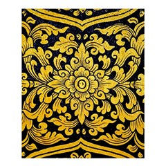 Flower Pattern In Traditional Thai Style Art Painting On Window Of The Temple Shower Curtain 60  X 72  (medium)