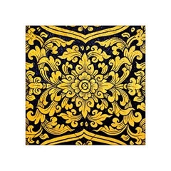 Flower Pattern In Traditional Thai Style Art Painting On Window Of The Temple Acrylic Tangram Puzzle (4  x 4 )
