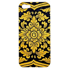 Flower Pattern In Traditional Thai Style Art Painting On Window Of The Temple Apple Iphone 5 Hardshell Case