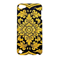 Flower Pattern In Traditional Thai Style Art Painting On Window Of The Temple Apple iPod Touch 5 Hardshell Case