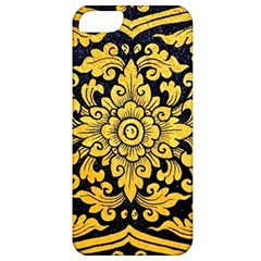 Flower Pattern In Traditional Thai Style Art Painting On Window Of The Temple Apple Iphone 5 Classic Hardshell Case