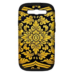 Flower Pattern In Traditional Thai Style Art Painting On Window Of The Temple Samsung Galaxy S Iii Hardshell Case (pc+silicone)