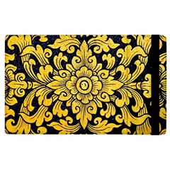 Flower Pattern In Traditional Thai Style Art Painting On Window Of The Temple Apple iPad 2 Flip Case