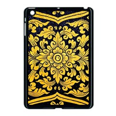 Flower Pattern In Traditional Thai Style Art Painting On Window Of The Temple Apple Ipad Mini Case (black)