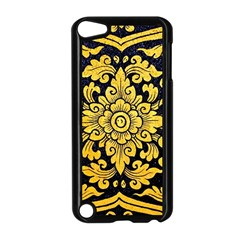 Flower Pattern In Traditional Thai Style Art Painting On Window Of The Temple Apple iPod Touch 5 Case (Black)