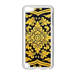 Flower Pattern In Traditional Thai Style Art Painting On Window Of The Temple Apple Ipod Touch 5 Case (white)