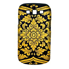 Flower Pattern In Traditional Thai Style Art Painting On Window Of The Temple Samsung Galaxy S Iii Classic Hardshell Case (pc+silicone)