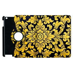 Flower Pattern In Traditional Thai Style Art Painting On Window Of The Temple Apple iPad 2 Flip 360 Case