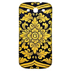 Flower Pattern In Traditional Thai Style Art Painting On Window Of The Temple Samsung Galaxy S3 S Iii Classic Hardshell Back Case