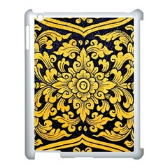 Flower Pattern In Traditional Thai Style Art Painting On Window Of The Temple Apple Ipad 3/4 Case (white)