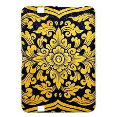 Flower Pattern In Traditional Thai Style Art Painting On Window Of The Temple Kindle Fire Hd 8 9