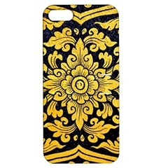 Flower Pattern In Traditional Thai Style Art Painting On Window Of The Temple Apple Iphone 5 Hardshell Case With Stand