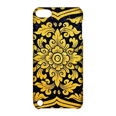 Flower Pattern In Traditional Thai Style Art Painting On Window Of The Temple Apple Ipod Touch 5 Hardshell Case With Stand