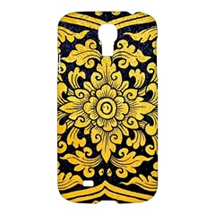 Flower Pattern In Traditional Thai Style Art Painting On Window Of The Temple Samsung Galaxy S4 I9500/i9505 Hardshell Case