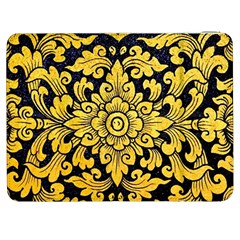 Flower Pattern In Traditional Thai Style Art Painting On Window Of The Temple Samsung Galaxy Tab 7  P1000 Flip Case