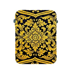 Flower Pattern In Traditional Thai Style Art Painting On Window Of The Temple Apple iPad 2/3/4 Protective Soft Cases