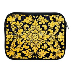 Flower Pattern In Traditional Thai Style Art Painting On Window Of The Temple Apple iPad 2/3/4 Zipper Cases