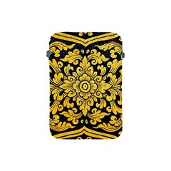 Flower Pattern In Traditional Thai Style Art Painting On Window Of The Temple Apple Ipad Mini Protective Soft Cases
