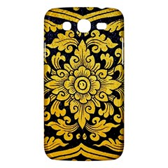 Flower Pattern In Traditional Thai Style Art Painting On Window Of The Temple Samsung Galaxy Mega 5.8 I9152 Hardshell Case
