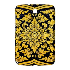 Flower Pattern In Traditional Thai Style Art Painting On Window Of The Temple Samsung Galaxy Note 8 0 N5100 Hardshell Case