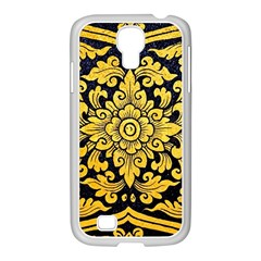 Flower Pattern In Traditional Thai Style Art Painting On Window Of The Temple Samsung Galaxy S4 I9500/ I9505 Case (white)