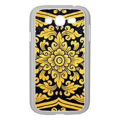 Flower Pattern In Traditional Thai Style Art Painting On Window Of The Temple Samsung Galaxy Grand Duos I9082 Case (white)
