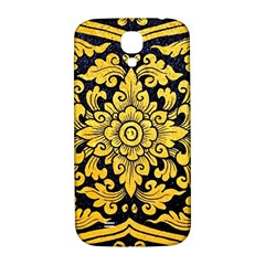Flower Pattern In Traditional Thai Style Art Painting On Window Of The Temple Samsung Galaxy S4 I9500/i9505  Hardshell Back Case