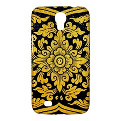 Flower Pattern In Traditional Thai Style Art Painting On Window Of The Temple Samsung Galaxy Mega 6 3  I9200 Hardshell Case